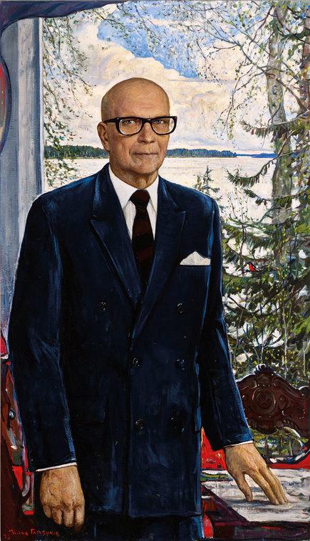 Портрет президента Финляндии Урхо Калева Кекконена