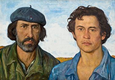 Яков Лобанников, шофер. Иван Уваровский, бульдозерист
