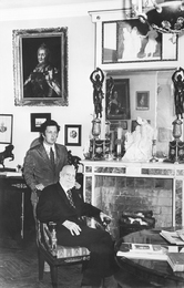 "I. Glazunov and V. Shulgin - Monarchist, Deputy of the State Duma in Tsarist Russia, the Participant of the ""White Movement"". The Apartment of the Artist. Moscow"