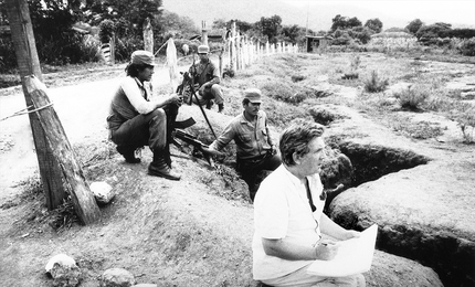Илья Глазунов за работой в Никарагуа во время военных действий