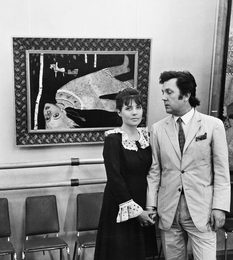 Ilya Glazunov with His Wife Nina. Exibition. Moscow