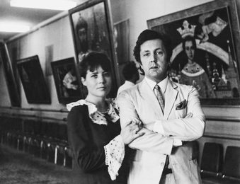 Ilya Glazunov with His Wife Nina. The Exhibition. Moscow