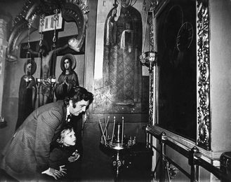 llya Glazunov with His Son Ivan