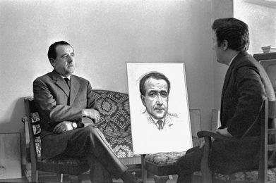 За работой над портретом Луиджи Ольдани, генерального секретаря Ла Скала, Милан