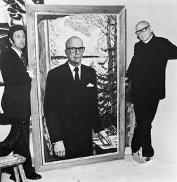 Илья Глазунов работает над портретом Президента Финляндии Урхо Калева Кекконена. Хельсинки