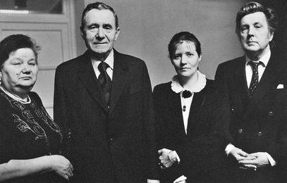 Л.Д. Громыко, А.А. Громыко, И.С. Глазунов, Н.А. Виноградова-Бенуа. (слева направо). Москва