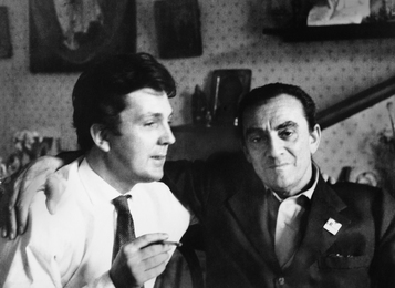 Ilya Glazunov and Film Director Luchino Visconti