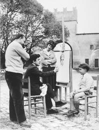 Принц Витторио Массимо и его жена Доун Аддамс попросили художника написать портрет их сына Стефано. Рим