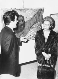 Илья Глазунов и Джульетта Мазина на выставке в галерее Ла Нуова Пеза. Рим. Италия
